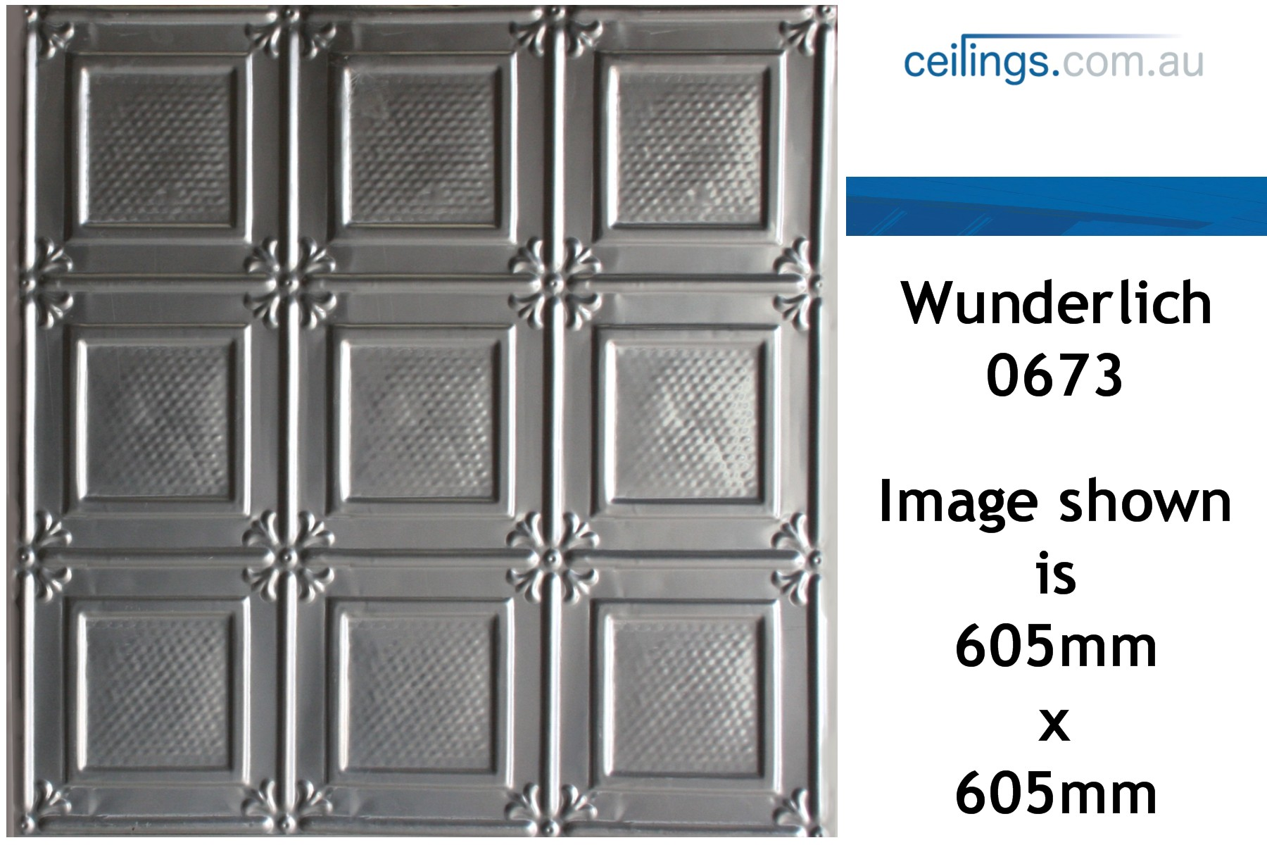 Wunderlich pressed metal panels no 0673 ophir ceiling panels perth dailygadgetfo Choice Image