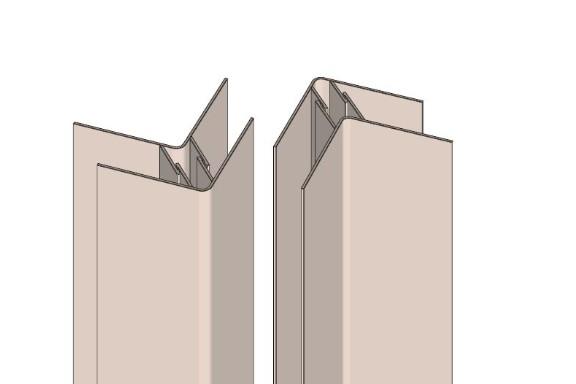 Snap On Aluminium Corner