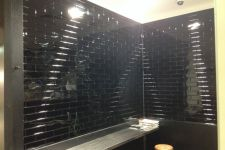 Brick Black Powdercoat Wall Lining