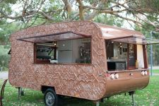 Shield Copper Look Caravan
