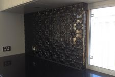 Original Black Powdercoat Splashback
