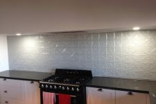 Snowflake Mercury Silver powdercoat Splashback