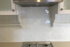 Clover Splashback White Powdercoat
