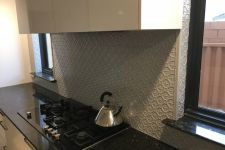 Savannah Splashback Mercury Silver Powdercoat